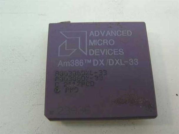 AMD A80386DXL-33 33Mhz Processor - Am386 DX/DXL-33 Vintage 386 CPU