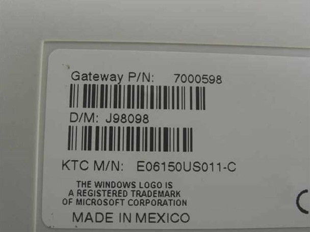 Gateway 7000598 PS/2 Keyboard Enhanced 104-Key - E06150US011-C