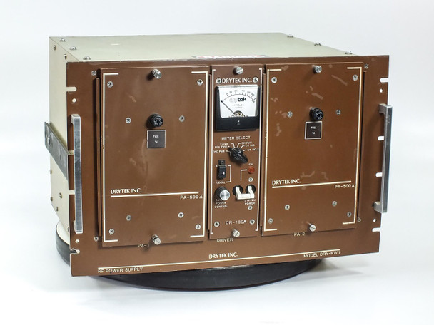 Drytek DRY-KW1 RF Power Supply Comdel PA-500A DR-100A S100 Wafer