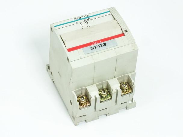Fuji Electric Circuit Protector / Breaker 3 Amp 3-Pole CP33T-M003 CP33TM/3