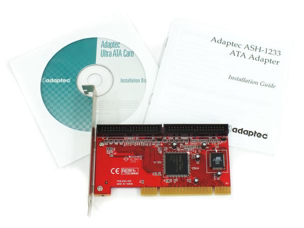 Adaptec ASH-1233 PCI Ultra ATA / 133 PCI Controller Card - Dual Channel IDE