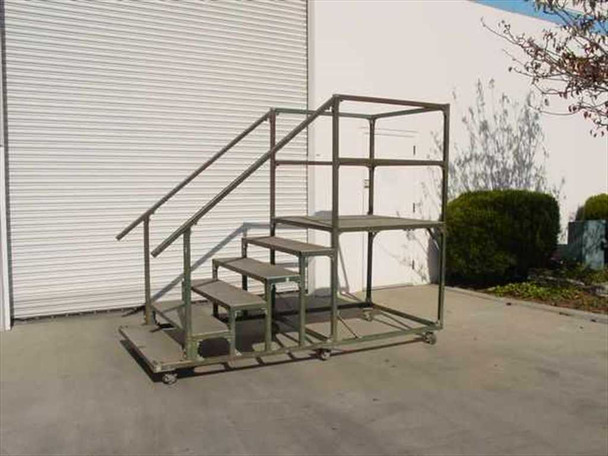 "Work Platform Mobile Steel Work Platform w/Diamond Plate Surface 48"" x 110"""