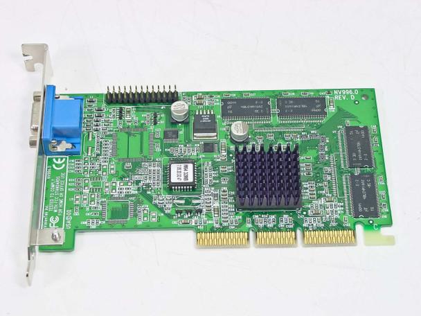 VisionTek NV996.0 Rev D 32MB AGP VGA Video Card Port Nivida Riva VCD001417 M5701