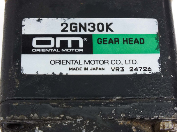 Oriental Motor 2SK4GN-A Reaction Synchronous Motor with 2GN30K Gear Head