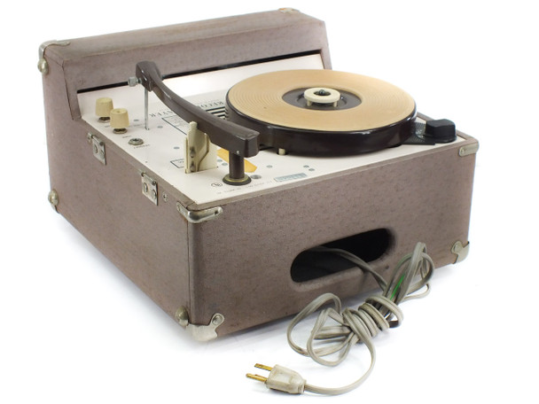 Audiotronics 300-A 4-Speed Classroom Record Player - Missing 6T9 Tube - As-Is