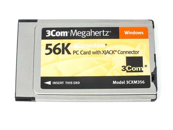 3COM 3CXM356  Megahertz 56k WinModem PC Card - Xjack Connector