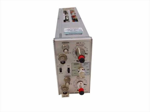 Tektronix 7A26 200MHz Dual Trace Amplifier - Adjustment Knob Broken - As Is
