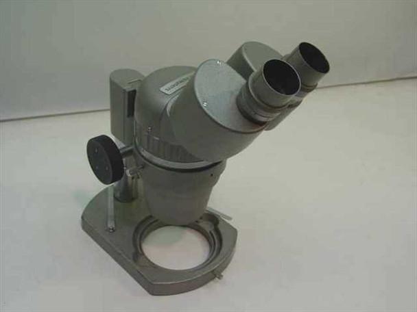 McBain Instruments Grey Binocular Microscope Head w/ Small Stand - No Eyepieces