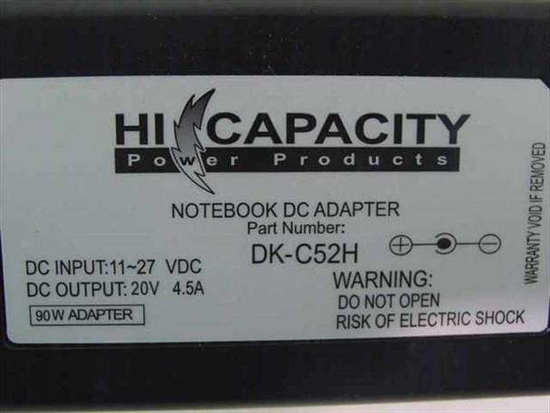 Hi Capacity 20 Volt 3-Pin Notebook DC Car Power Adapter (DK-C52H)
