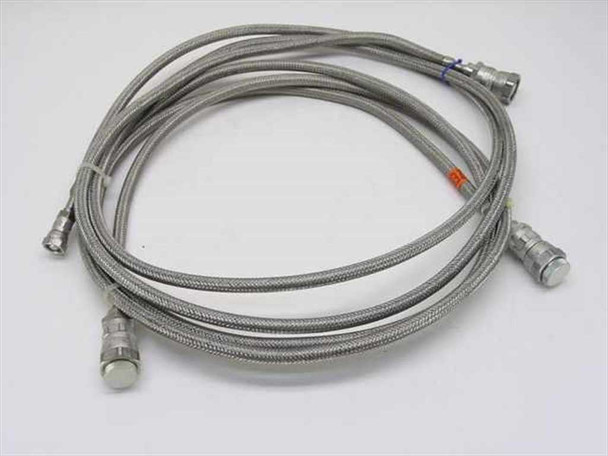 "Pair of 10' 1/2"" Anaconda Cryogenic Helium Compressor Lines 5400-S5-8 Couplings"