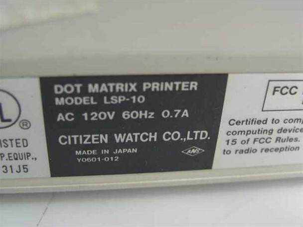 Citizen LSP-10 Dot Matrix Printer