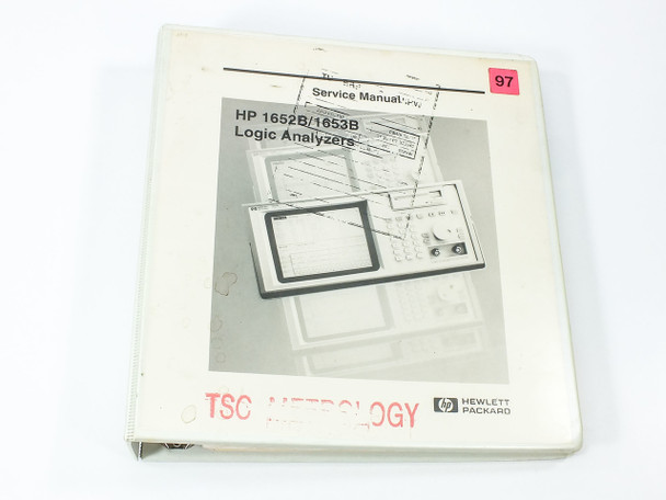 HP 1652B/1653B  Logic Analyzers Service Manual