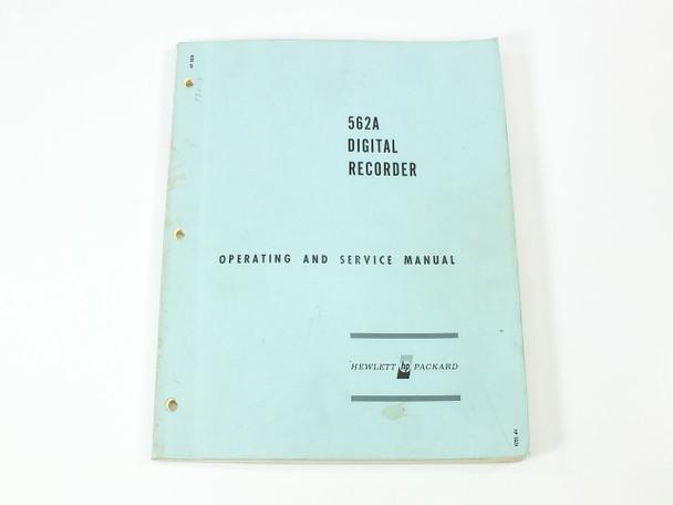 HP 562A  Digital Recorder Operating and Service Manual