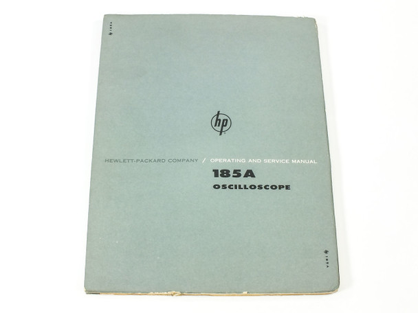 HP 185A Oscilloscope Operating and Servicing Manual 01103-2