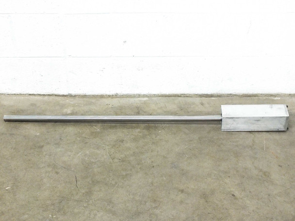 """Thomson 45x1"""" RoundRail Linear Guide Rod 440C Stainless Steel w Mounting Blocks"""