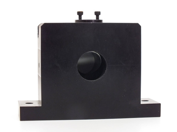 "Aluminum Optics Block 45 Degree Angle 1"" Ports 0.25"" Mounting Holes"
