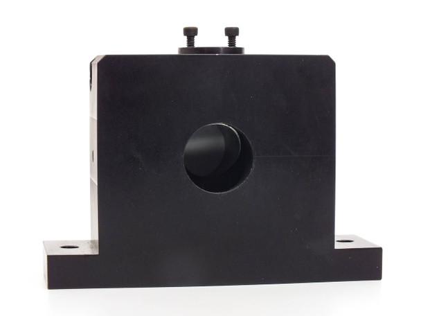 "Aluminum Optics Block 45 Degree Angle 1"" Ports 0.25"" Mounting Holes"