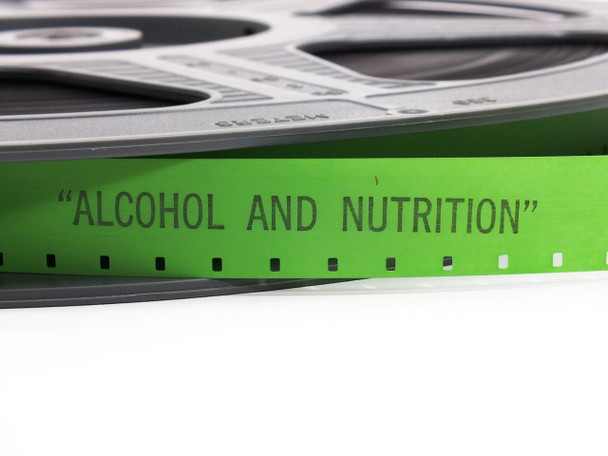 Alcohol and Nutrition 16 mm Film Alcohol and Nutrition On Plastic Reel 33 min 16 mm Film