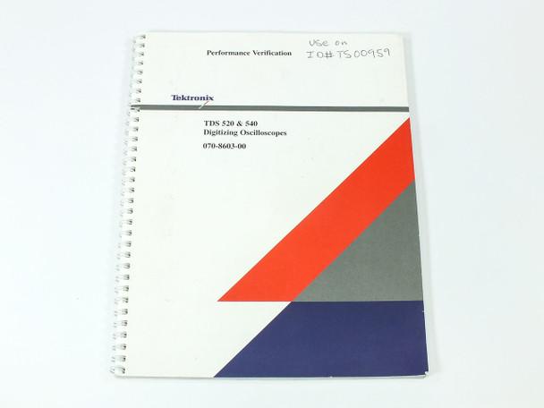 Tektronix TDS 520/540  Digitizing Oscilloscopes Performance Verification