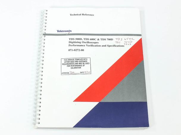 Tektronix 071-0272-00  TDS 500D/600C/700D Digitizing Oscilloscope Tech Reference
