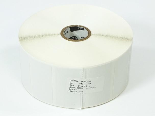 """Zebra 10010039 Thermal Transfer Label Roll 2"""" x 1"""" WHITE Z-Select 4000D"""