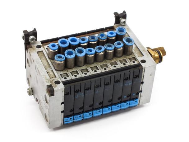 Festo CPV-10-VI Pneumatic Air Solenoid Manifold with Valves R402 R502 R602 R902