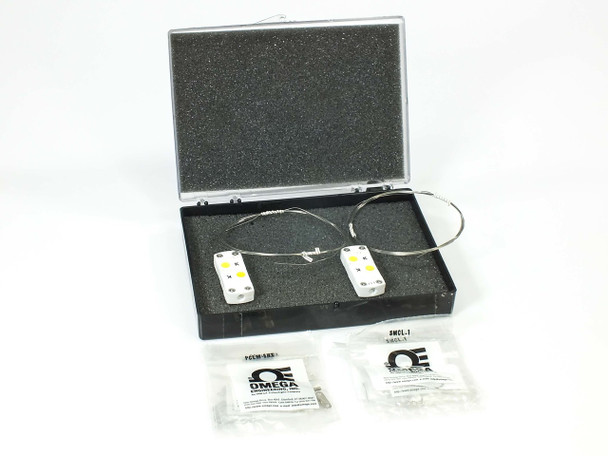 "Omega Pair of Temp Probes w/ Ceramic Thermocouple 60"" Sheath SCASS-020U-60-SHX"