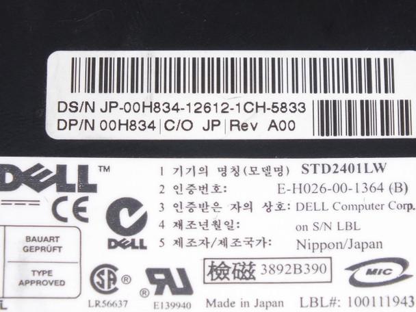 Dell 0H834  20/40GB SCSI 2 Tape Drive DDS-4 DAT BLACK STD2401LW TC4200-113