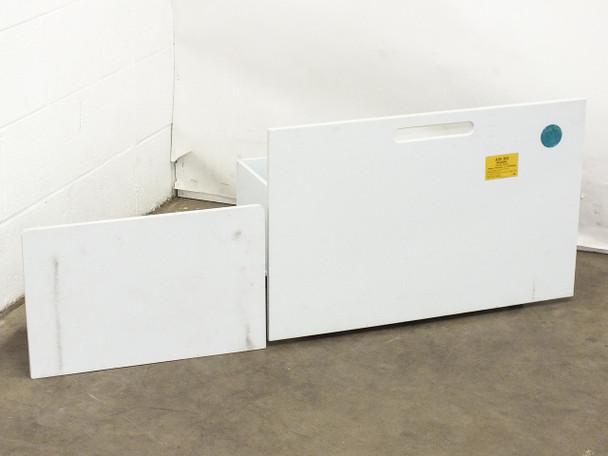 "Custom 27.5"" x 15"" x 18""  Plastic Mobile 6 Section Acid Mix Bath on Wheels"