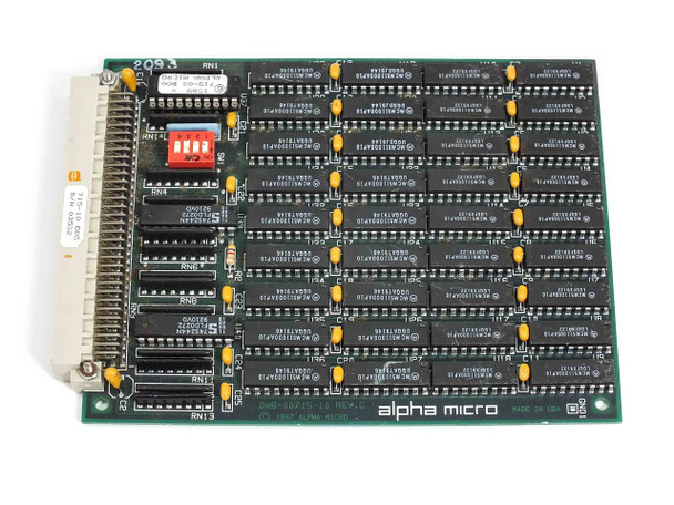 Alpha Micro AM-715  4MB Memory Expansion Board REV C DWB-00715-10 DWX-00715-10