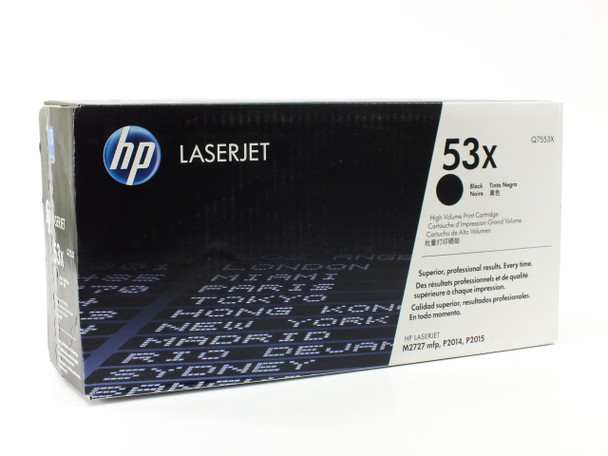 HP Q7553X  53X Black LaserJet Toner Print Cartridge High Volume
