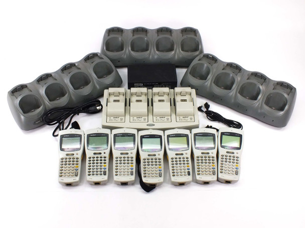 Symbol PDT6100 Portable Data Terminals - Lot of 7 with Base Chargers - AS Is