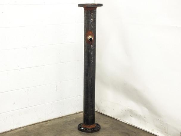"Wheatland ASTM A 53   48"" x 4"" Schedule 40 Standard Pipe w/ Socket Weld Flanges"