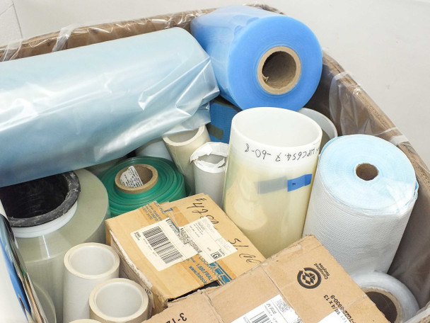 Lot of 850 lbs Assorted Solar Panel Cell Material Rolls