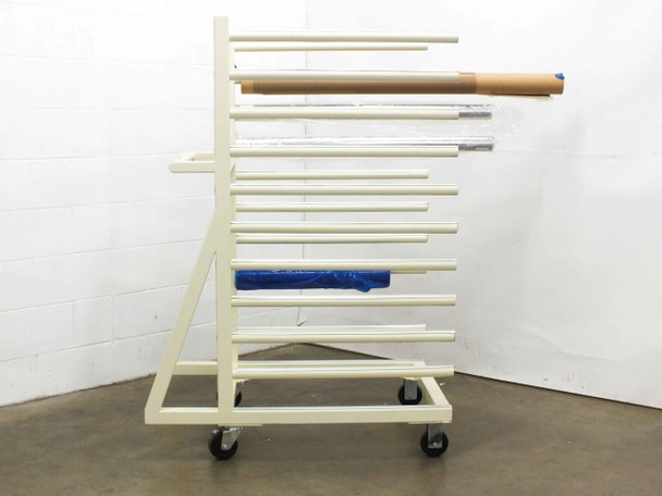 Generic EVA  Roller Rack with Assorted Solar Manufacturing Materials