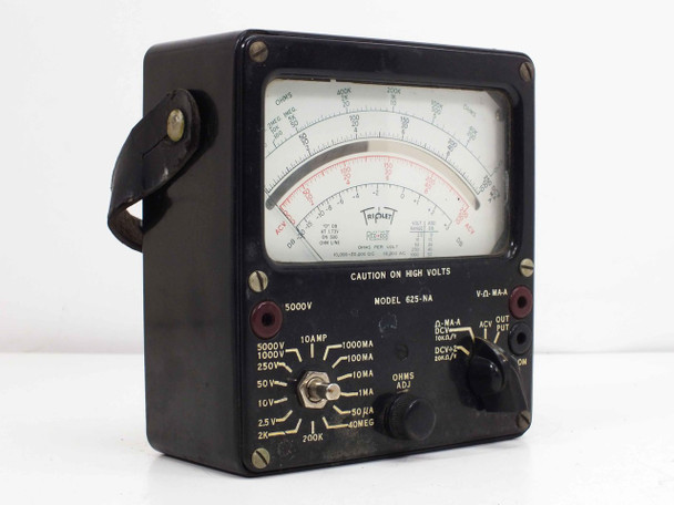 Triplett 625-NA Analog VOM Volt Ohm Multimenter VINTAGE - As Is