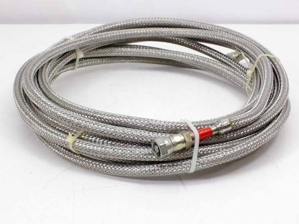 "Pair of 24' 1/2"" Braided Cryogenic Compressor Hose Line Female-Female 5400-S5-4"