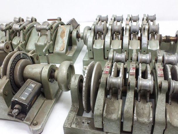 Moviola SYAZB-A / SZD Lot of 4 Film Counter Synchronizers Mixed Models AS IS