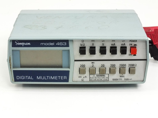 Simpson 463 Digital Multimeter with Leads