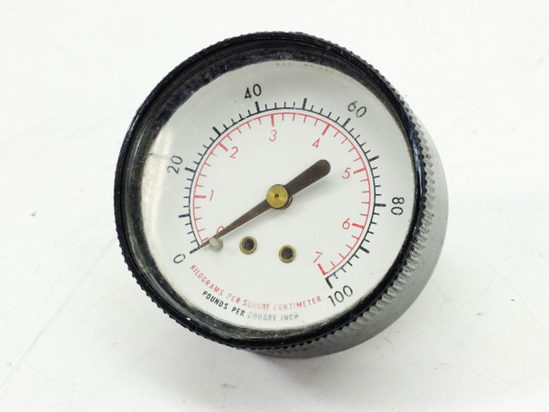 Continental Precision Instruments 877 05-022-136 0-100 PSI Pressure Gauge
