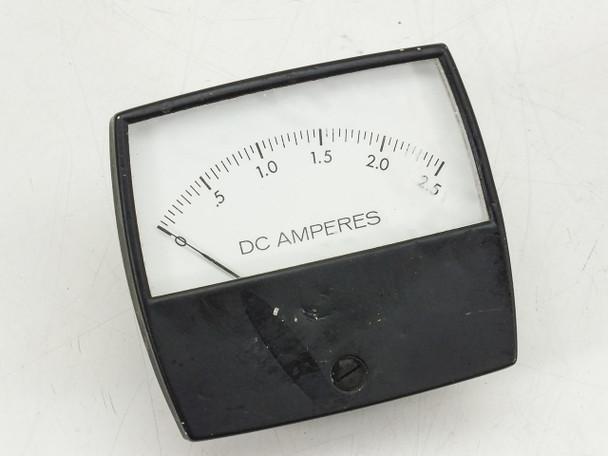 D.C. Amperes Meter 0-2.5 amps