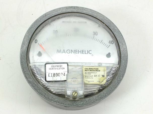 "Dwyer  2040C  Magnehelic Differential Pressure Gauge 0-40"""