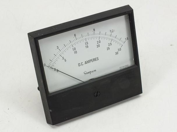 Simpson Generic DC Amperes Meter - 30 Amp MAX
