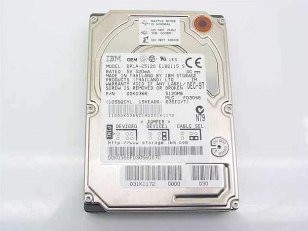 IBM 5120MB Laptop Hard Drive - DPLA-25120 0K0366