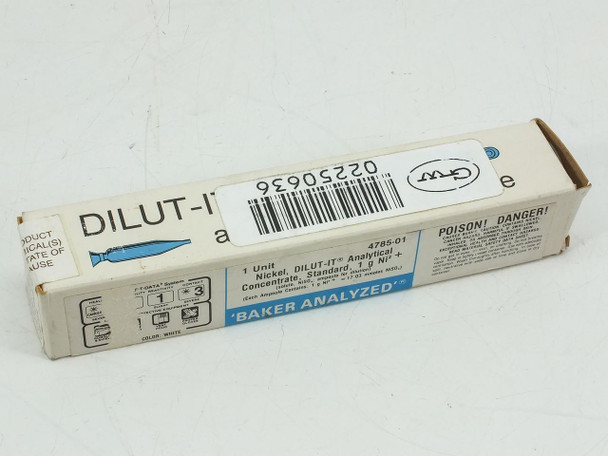 JT Baker 4785-01 DILUT-IT Analytical Concentrate Ni² + Solution - New Old Stock