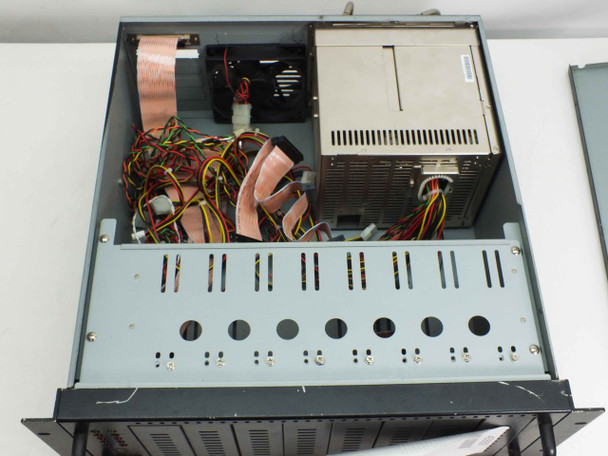 """Black 19"""" Rackmount  8 Slot Drive Chassis with 300W Power Supply"""