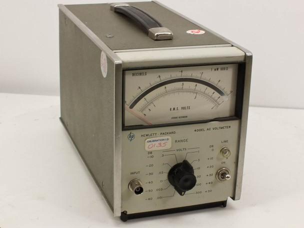 HP 400EL AC Voltmeter 0~300 VAC MAX 115/230VAC -AS-IS / FOR PARTS