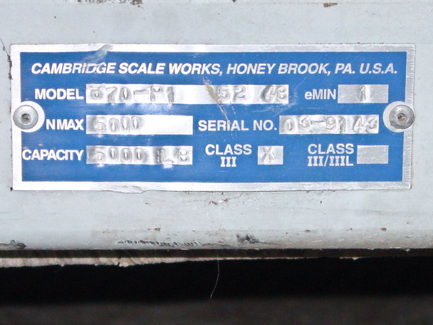 Cambridge Scale Works Scale Platform 670-P1 - AS IS
