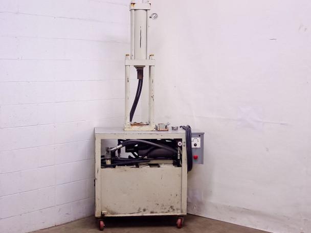 """White Hydraulic Press 16"""" Stroke 2.5"""" Rod 208/220 VAC (42"""" x 24"""" x 87"""")"""