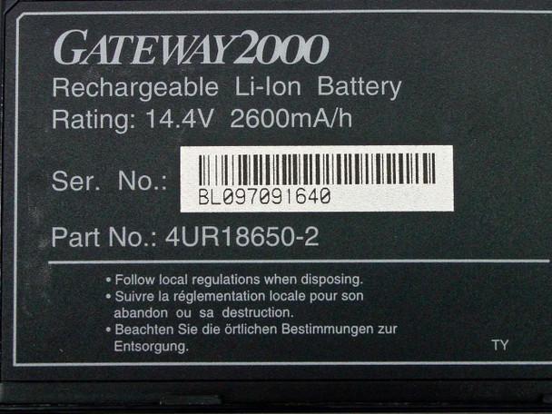 Gateway 4UR18650-02 2000 Li-Lon Battery 14.4V -AS-IS / UNTESTED
